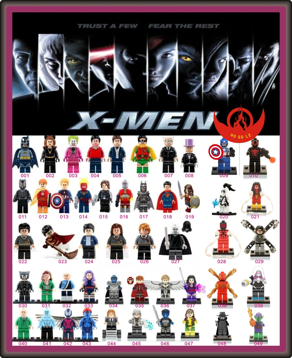 49PCS Super Heroes Building Block Minifigures Angel Black panther Mystique Shadows Toy Compatible with lego(China (Mainland))