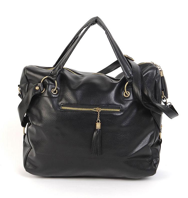 Гаджет  Free Shipping 2015 HOT Korean Stlye Fashion Big Capacity Black Womens Ladies Shoulder Handbag PU Leather Casual Hobo Black None Камера и Сумки