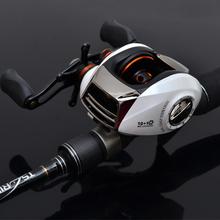 ktz 2.1 meters lure rod magnetic double drop round lure set fishing rod fishing reel bait casting set