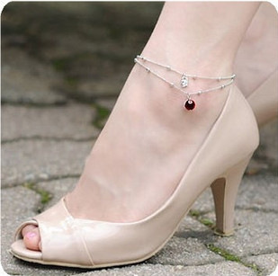 noble cygnet shiny temptation to Hongzhushan swan anklets for lovers gift(China (Mainland))