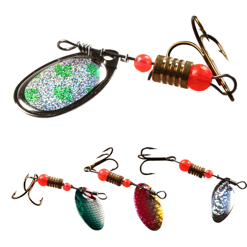 Buy promotion 30pcs spinners spoon for Salmon fishing lures