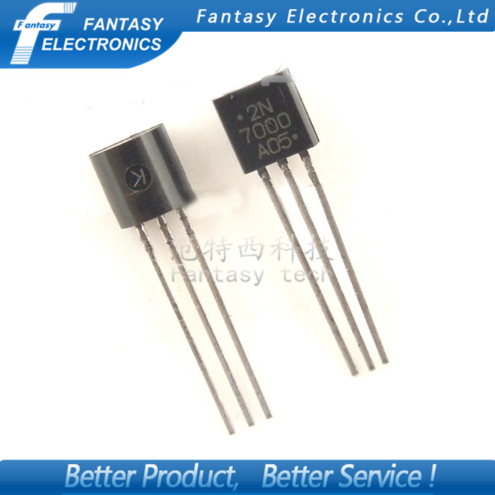 Гаджет  50PCS 2N7000 TO92 Small Signal MOSFET 200 mAmps, 60 Volts N-Channel TO-92 Original and new free shipping None Электронные компоненты и материалы