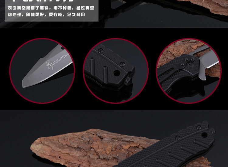 Buy BROWNING X39 Folding Blade Knife 5Cr13Mov Stainless Steel Survival Hunting Camping Knife Multifunction Pocket EDC Tools T cheap