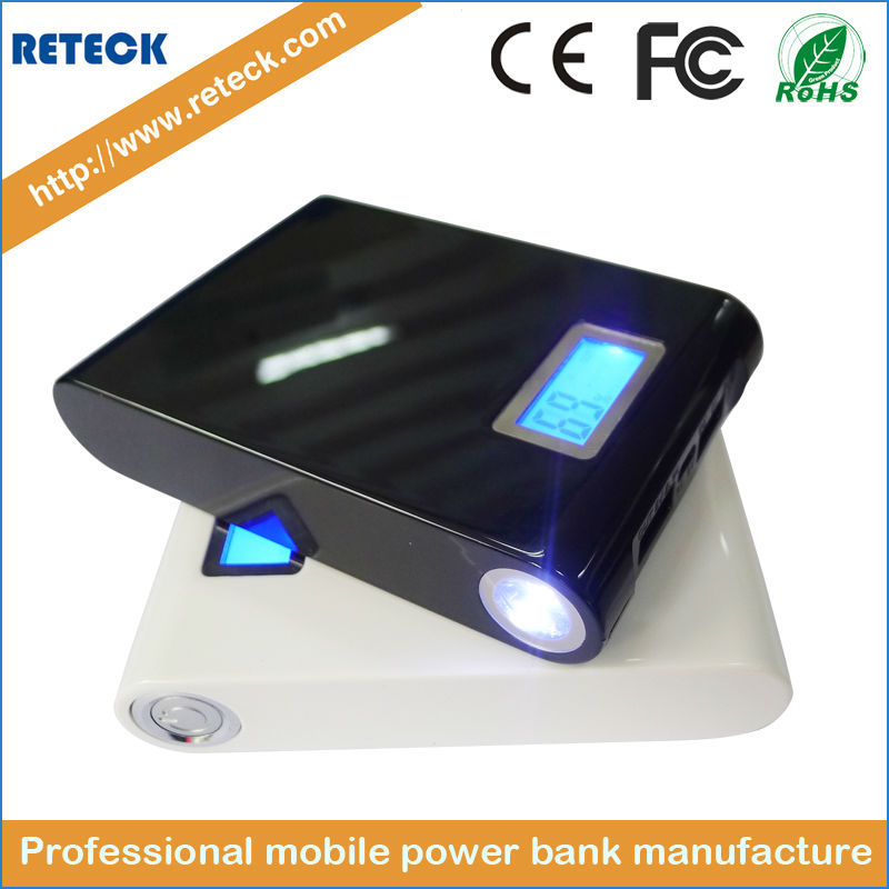 dual usb 12000mah fast charge charge most powerful power bank for notebook(China (Mainland))