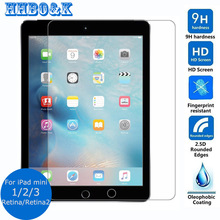 Safety Package Tempered Glass Screen Protector For iPad mini 1 2 3 0.3mm 2.5D 9h Safety Protective Film For iPadmini Retina(China (Mainland))