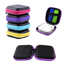 1 PC Colorful Portable Mini Zip Round Hard Storage Pouch Case Coin Purse Bag Earphone Headphone Holder(China (Mainland))