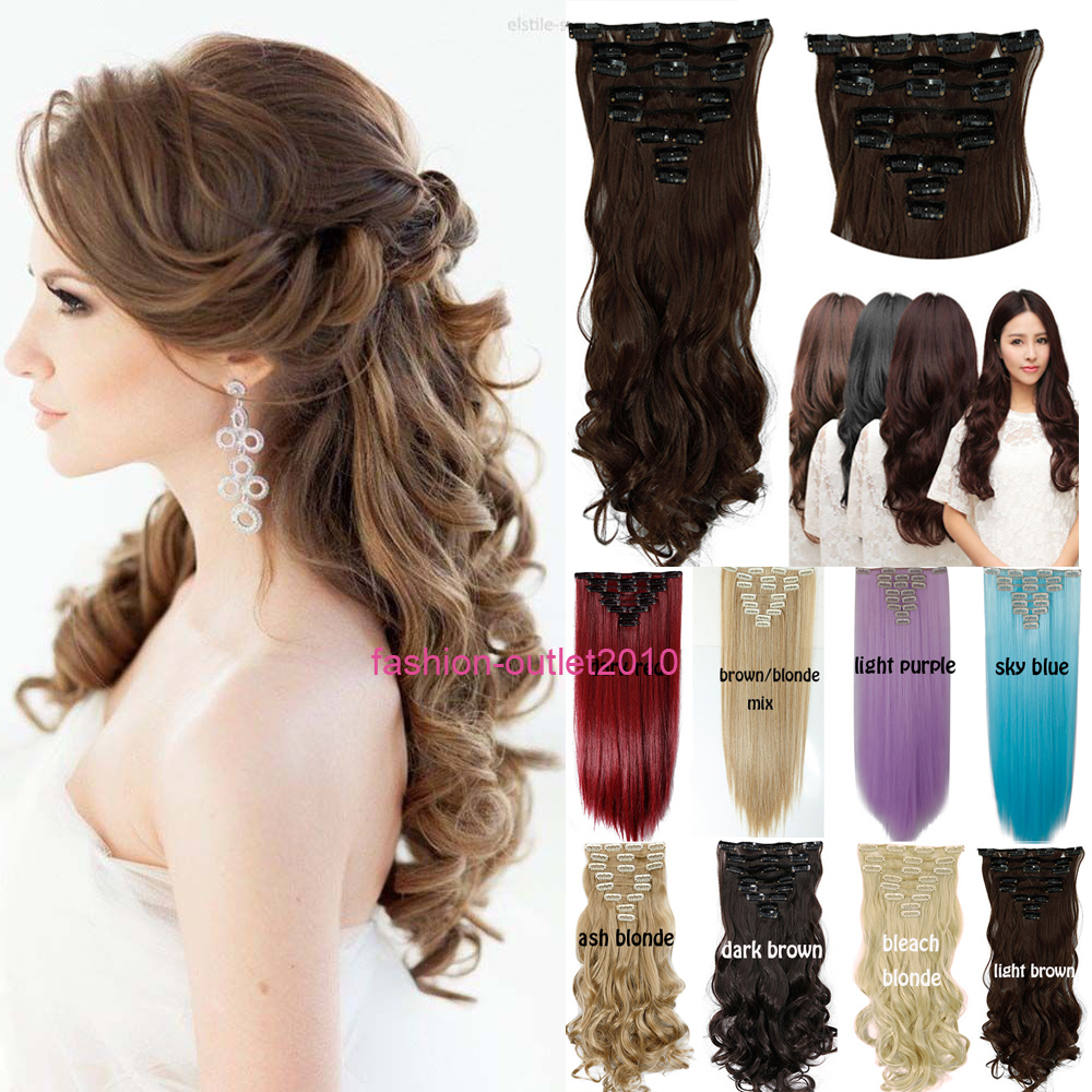 Women Hair Extensions Black Brown Blonde Natural Curly 43CM 60CM Long Synthetic Woman Hair Extension Hairpiece(China (Mainland))