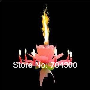 New Lotus Music Candles Lotus Petal Wedding Birthday party Flower Music Candle Lotus style