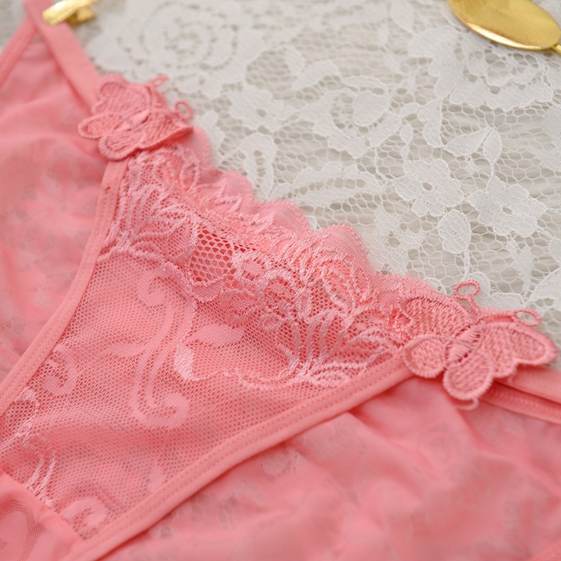 Sexy Lingerie Full Lace Panties Transparent Floral Tanga Soft Intimates Butterfly Women Briefs Underwear Culotte Femme Calcinha
