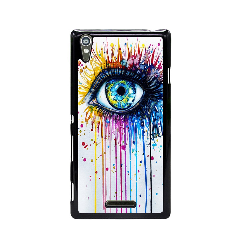Case For Sony Xperia T3 M50W case mobile phone Hard Plastic Back Case Cover Sugar skull Free Shipping(China (Mainland))