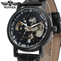 Free shipping Summer Military watch Winner WRG8028M3B1 black skeleton dial alloy case waterproof import watch