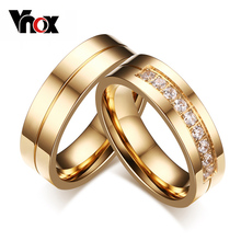 Buy Vnox Trendy Wedding Bands Rings Love Gold-color CZ Stone Stainless Steel Promise Jewelry for $2.84 in AliExpress store