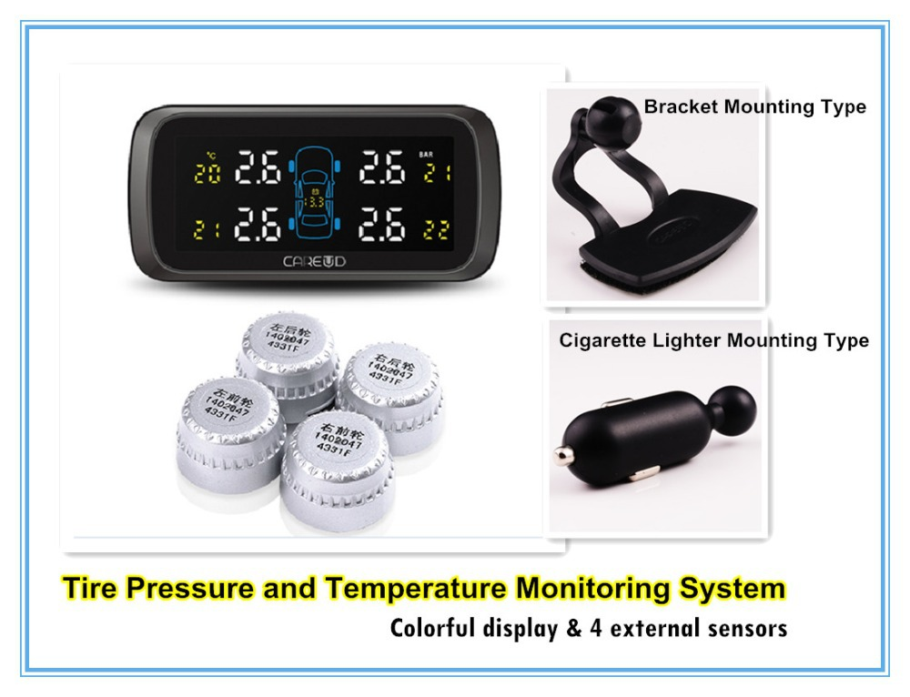 Climate Monitoring System : Careud tpms tire pressure and temperature monitoring