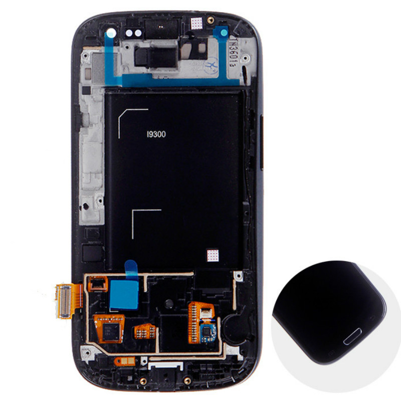 High Quality White LCD Display + Digitizer Touch Screen Glass Replacement Assembly for Galaxy S3 i9300(China (Mainland))