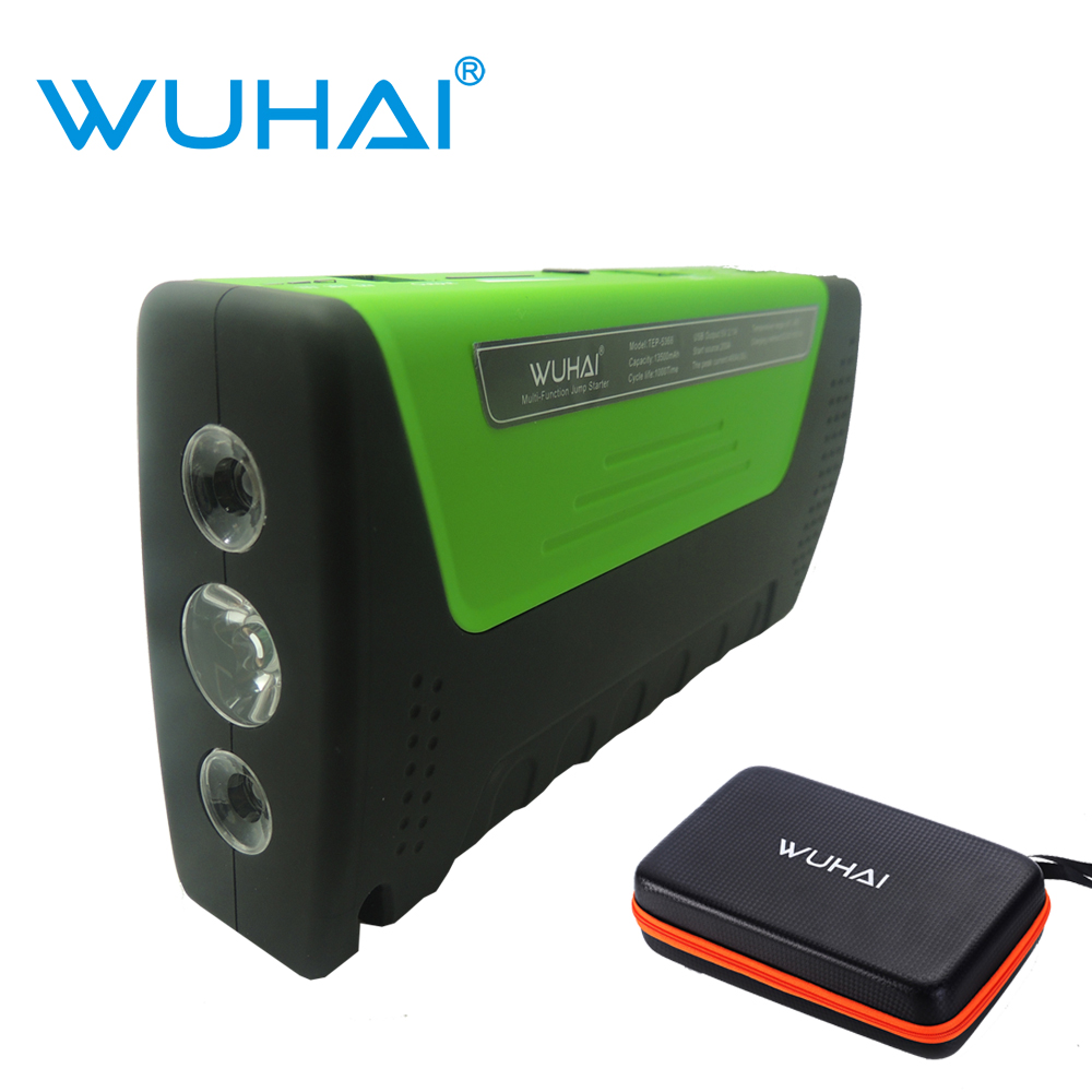 WUHAI Super Car Jump Starter Vehicle AUTO Engine Booster Emergency Start Battery Portable Charger Power Bank for Electronics(China (Mainland))