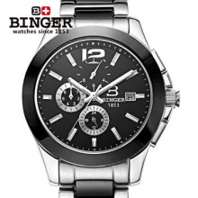 Free Shipping New 2016 Mans Dress Automatic Watches Geneva Ceramic wristwatch Men Binger Watch Luxury Casual Relogio