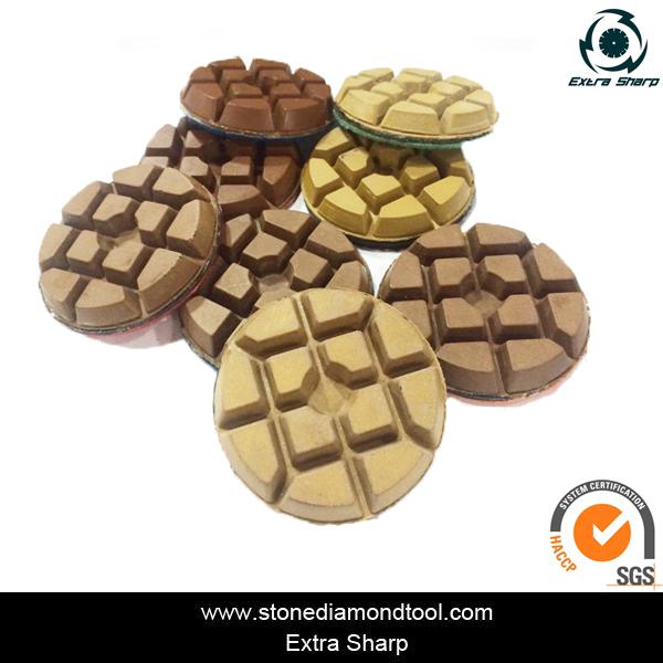 Grit 50# 3'' Resin Copper Bond Floor Polishing Pads Wet Use for Grinder Machine(China (Mainland))