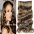 Wholesale Women's Hairpieces Clips in Wavy Hair Synthetic Hair Extensions 10PCS/LOT Clip in Hair Extensions #2/30 Light Brown