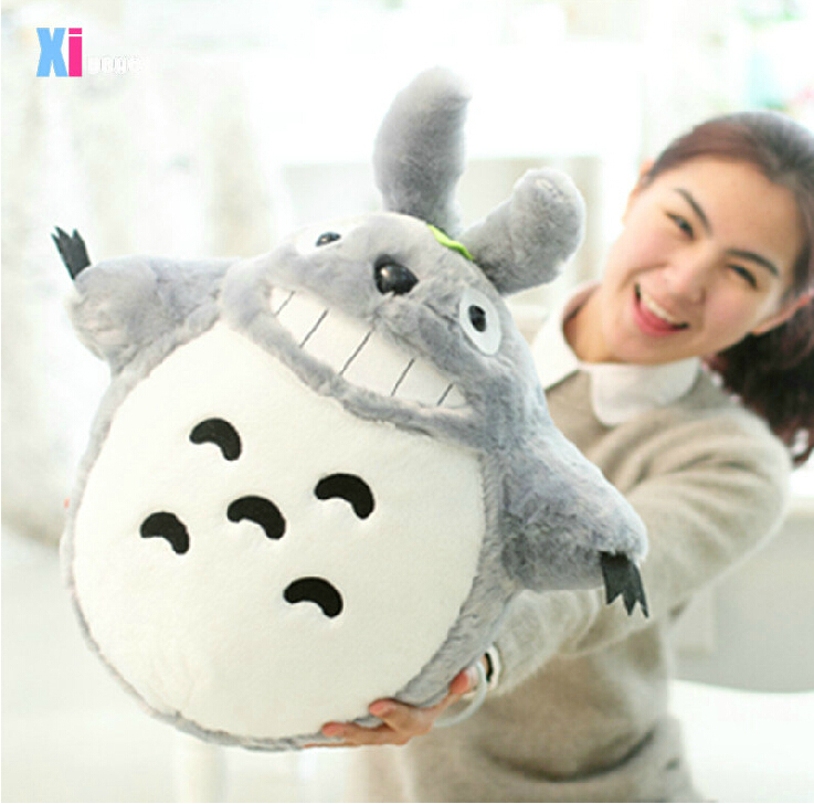 Hot Sale 60CM Famous Cartoon Totoro Plush Toys Smiling Soft Stuffed Toys High Quality Dolls Factory Price In Stock(China (Mainland))