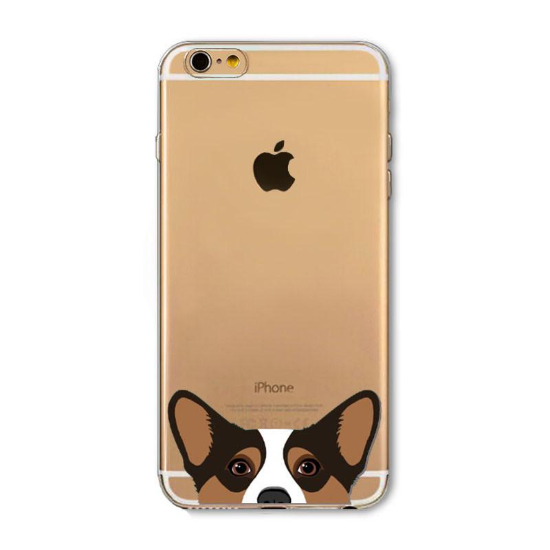Cute Cartoon Animal Cat Dog BULLDOG Phone Case For iPhone 6 6s Plus 4.7″ 5.5″ Crystal Clear Soft TPU Gel Flexible Skin Cover