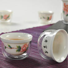 Double Layer Heat-resistant Glass Teapot Tea Cup Set
