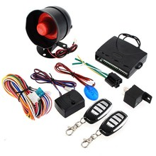 New Universal HA-100A 1-Way Car Alarm Vehicle System Protective Security System Keyless Entry Siren 2 Remote Control Burglar(China (Mainland))