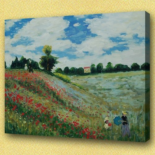 Quality handmade Claude monet oil paintings famous reproductions pictures wall decoration paintings canvas art (Monet01)(China (Mainland))