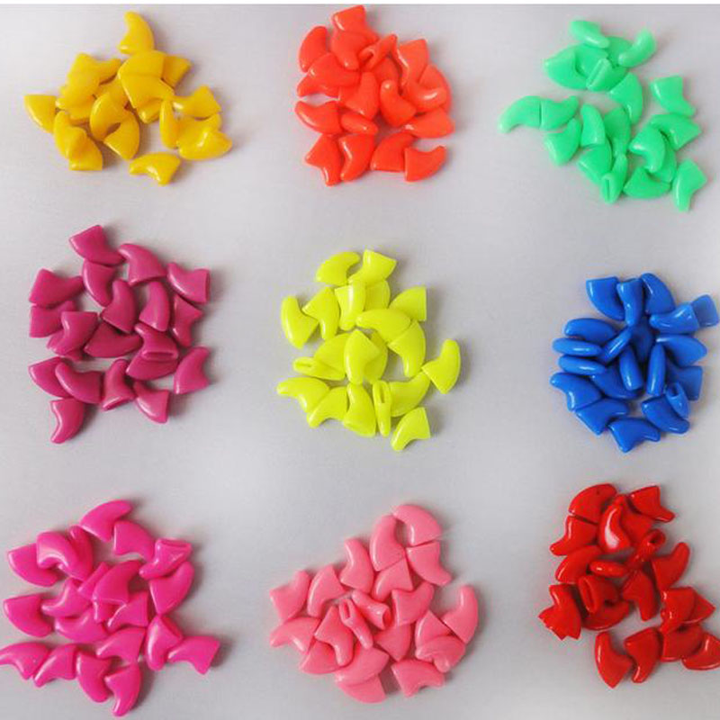 18 Colors Hot Sale 20pcs Soft Cat Pet Nail Caps Claw Control Paws off + 1 pcs Adhesive Glue Available(China (Mainland))