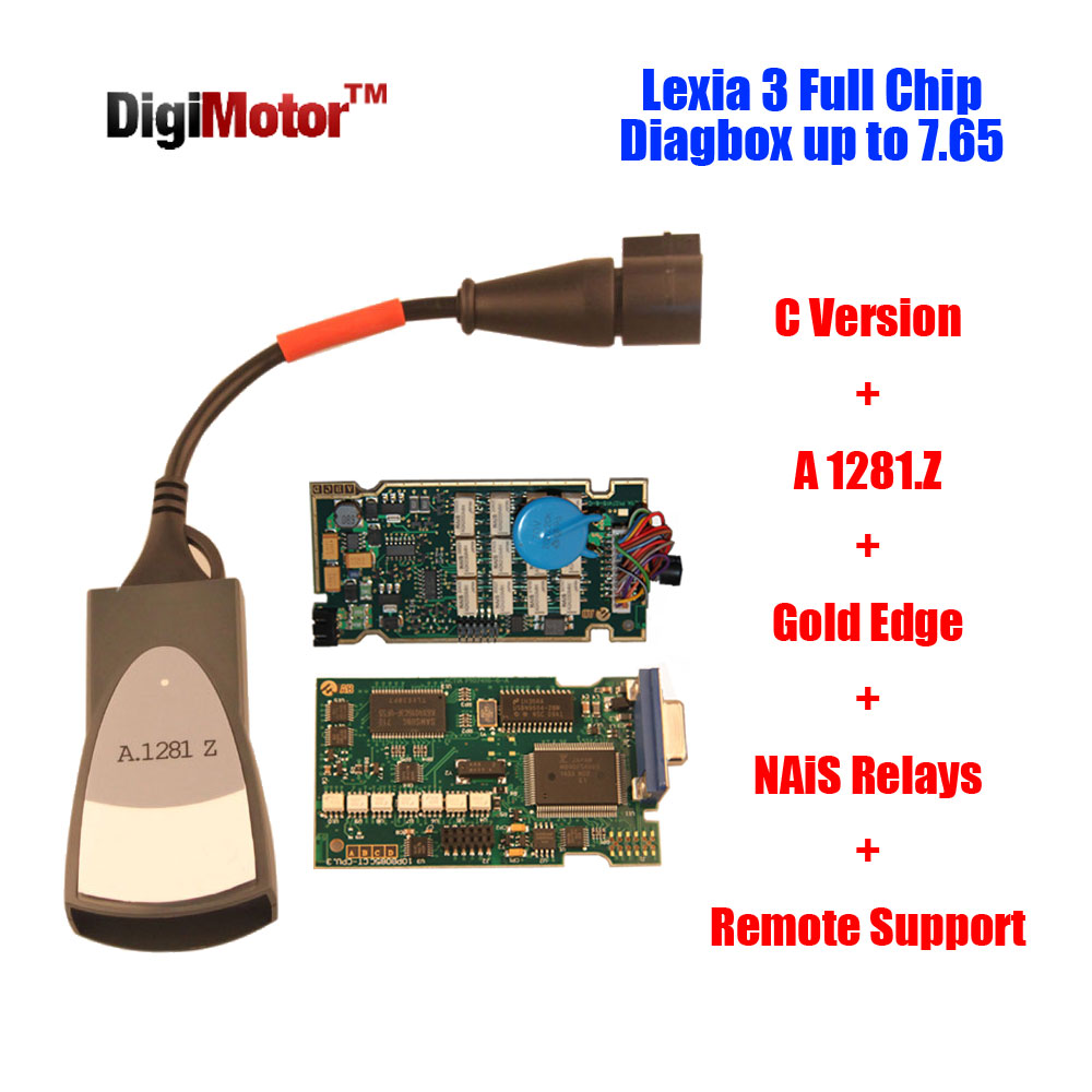 New! Original Lexia 3 PP2000 Diagbox 7.65 Full Chip 921815C For Lexia3 Citroen Peugeot Diagnostic Tool Lexia-3 PSA XS Evolution(China (Mainland))