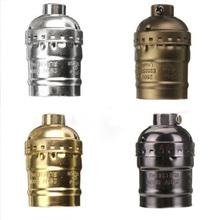 1 PC Classic Vintage Edison Bulb Bse Lamp Holder E27 Lamp Socket Silver/Gold/Black/Bronze E27/UL/110V/220V Light Socket(China (Mainland))