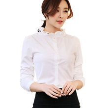 Buy New Women Spring Autumn Casual 2017 Chiffon Blouse Top Shirt OL Business Formal Work Wear Blusas Loose Full Sleeve Plus Size for $11.26 in AliExpress store