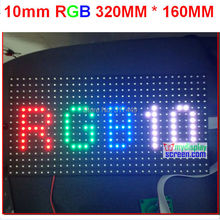 10mm pixel  full color module indoor/semi-outdoor hub 75 1/8 scan 320*160mm 32*16 pixel smd 3 in 1 rgb display  p10 led module(China (Mainland))