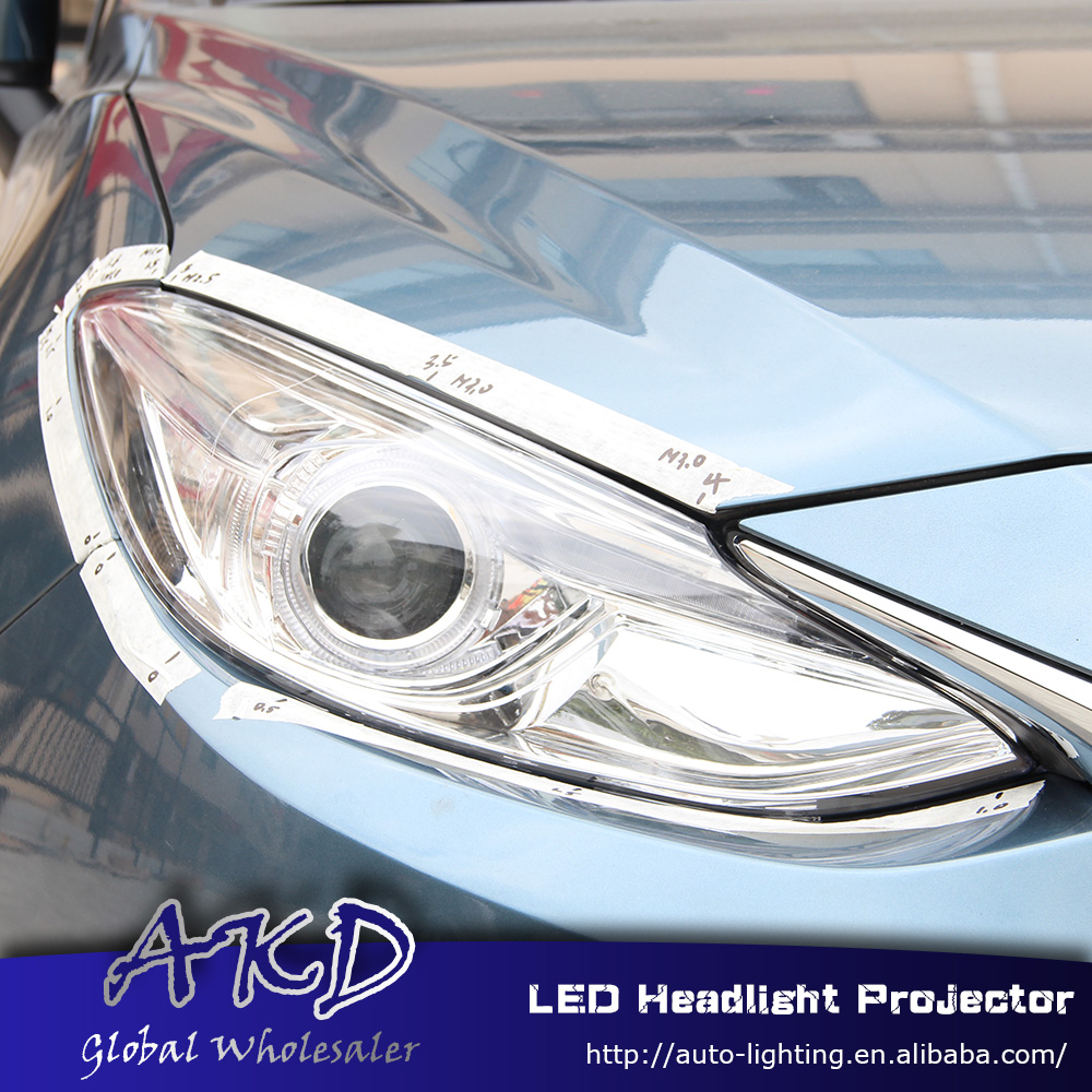 One-Stop Shopping Styling for Mazda 3 Headlights 2014-2015 New Mazda3 LED Headlight Axela drl Lens Double Beam H7 HID Xenon(China (Mainland))