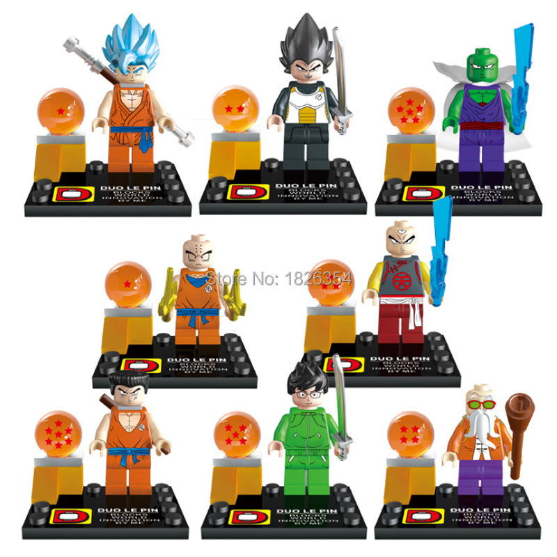 DLP9007 Building Block Super Heroes Dragon Ball Z Minifigures Dragon Ball Z Son Goku Vegeta Master Roshi Compatible With Lego(China (Mainland))