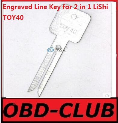 20pcs Original Engraved Line Key for 2 in 1 LiShi TOY40 scale shearing teeth blank car key locksmith tools supplies(China (Mainland))