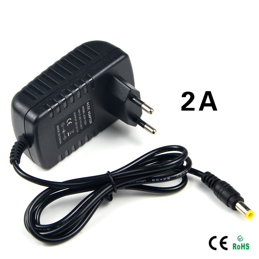1Pcs DC 12V 2A Switching Power Supply Converter Adapter EU Plug Charger lighting transformer For LED Strip CCTV Security Camera(China (Mainland))