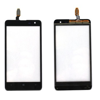 New For Nokia Lumia 625 touch screen digitizer glass with logo, Black Free Shipping