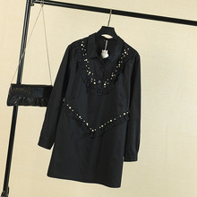 Buy T4 Spring Casual Women Shirts 6XL Plus Size Clothes Cotton Tops Fashion Long Sleeve beading RUFFLES Blouses 3592 for $23.99 in AliExpress store