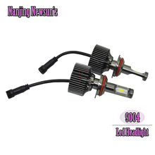 2x 9004 Led Headlight Conversion Kits Fast-cooling Fans With Drivers 9004 Hi/Lo Beam 6000K White High Low Dual Beam Driving Lamp(China (Mainland))