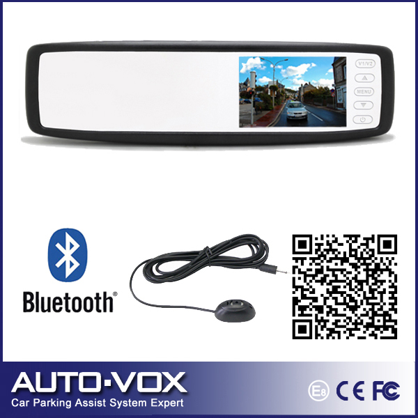 "Фотография Car 4.3"" TFT-LCD Rear view mirror monitor+bluetooth speaker handsfree+OEM mount for Hyundai Toyota Honda"