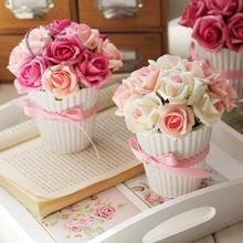Free shipping,Artificial flower rose bonsai home decoration gift decoration flower
