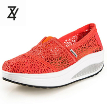 2016 New Slimming Shoes Women Fashion Hollow Out Casual Shoes Women Fitness Lady Swing Shoes Summer Factory Whose Top Quality