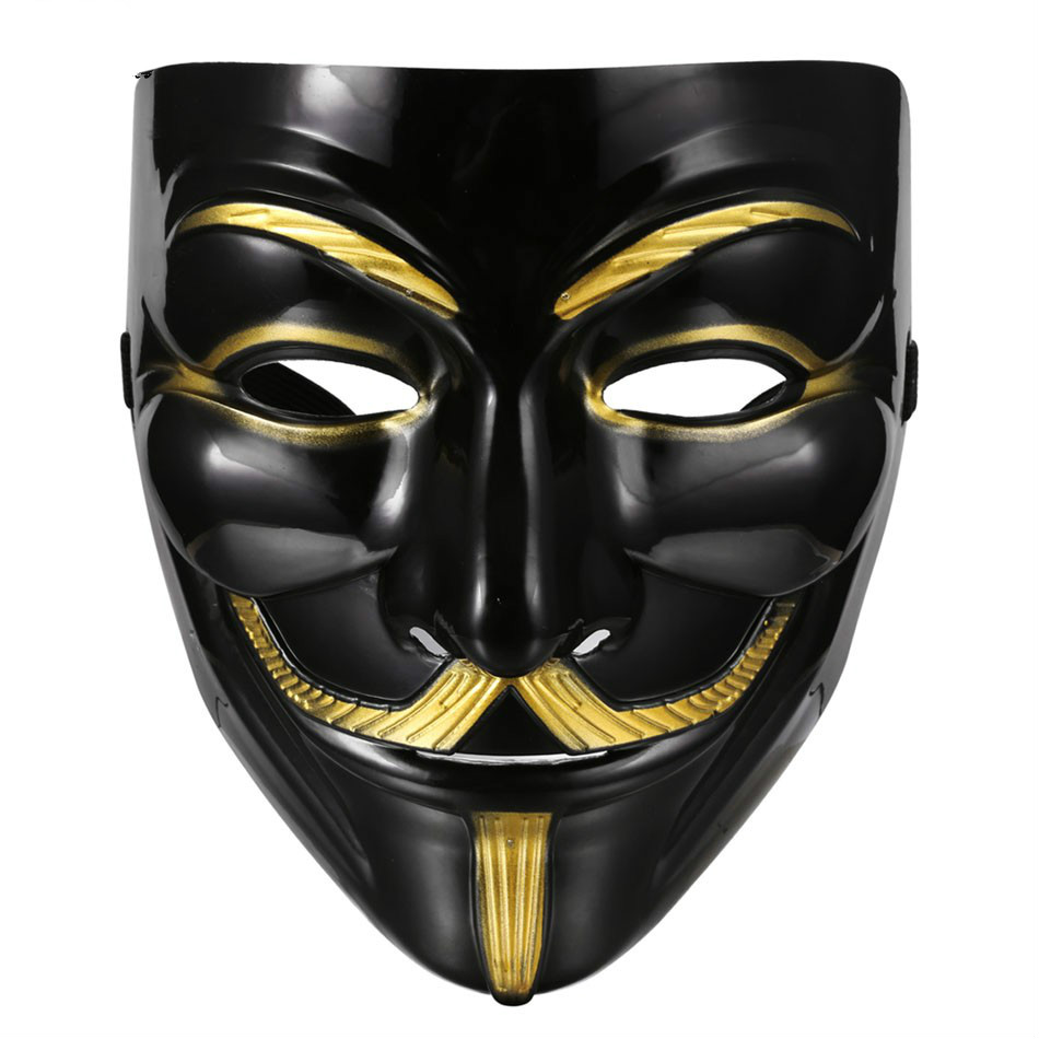 Halloween Masquerade Mask Costume Cosplay V for Vendetta Anonymous Mask Fancy Dress Adult Costume Accessory Party Cosplay Masks(China (Mainland))