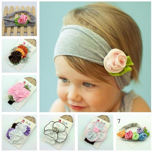Lovely Ovely Cotton Girls Baby Flower Headband Hairband Bow children infant toddler girls photo props headbands
