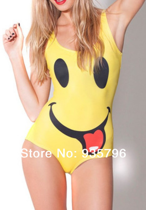 one piece swimwear Skull Galaxy bathing suits women 2014 I'm Happy Swimsuit - Huimani store