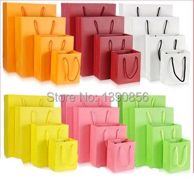 2015 wholesale fashion present chinese paper gift bags with handles small paper gift bags with handles mini paper bags for gifts(China (Mainland))