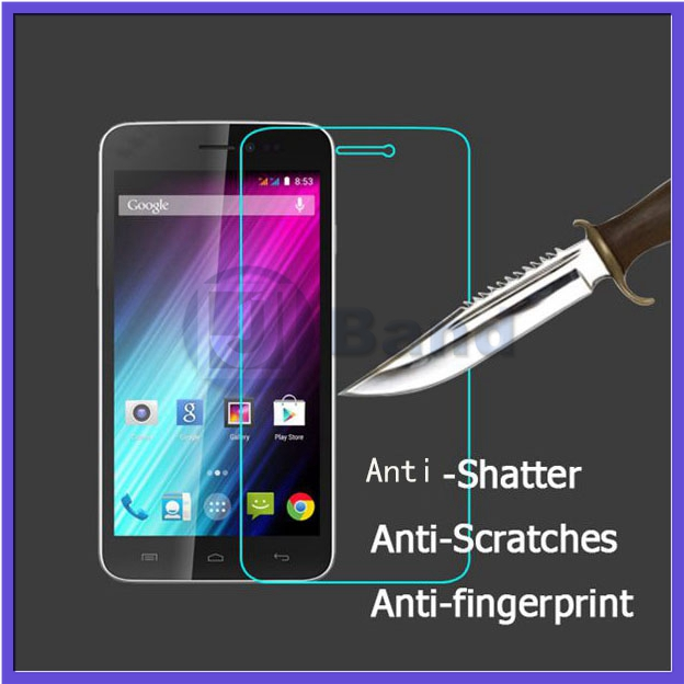 1pcs/lot Original Top Quality 0.3MM 2.5D 9H Anti-Explosion Real Tempered Glass For Wiko Wax steel FreeShipping(China (Mainland))
