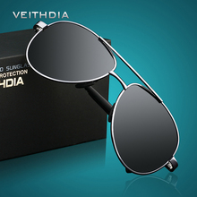 VEITHDIA ÓCULOS de Design Da Marca Óculos De Sol Dos Homens Polarizados UV400 Olhos Proteger Esportes Revestimento de Óculos de Sol Piloto do Google 1306 Atacado