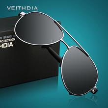 VEITHDIA Brand Design Sunglasses Men Polarized UV400 Eyes Protect Sports Coating Sun Glasses Aviator/Pilot Wayfarer  Wholesale