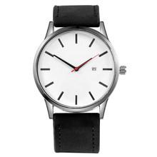 Relogio masculino 2019 Homens Pulseira de Couro Relógio de Quartzo Do Esporte Militar relógio de Pulso Dos Homens Reloj Calendário Completo Relógios Saati Homme(China)